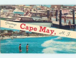 Unused Pre-1980 TWO VIEWS ON CARD Cape May New Jersey NJ ho7292