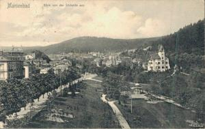 Czech Republic Marienbad Blick von der Südseite aus 02.85