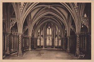 Interior, Holy Chapel Inside (Lower Chapel), Paris, France, 1900-1910s