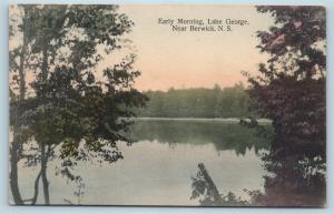 Postcard Canada Nova Scotia Berwick Early Morning on Lake George Q11