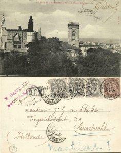 france, Ile de Ré, St.-MARTIN, Ruines et Clocher Actuel (1903) Postcard