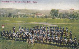 FORT RILEY, Kansas, 1900-1910's; Mounted Troup Cavalry