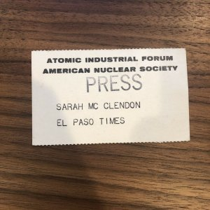 Vintage - Atomic Industrial Forum - American Nuclear Society - PRESS PASS