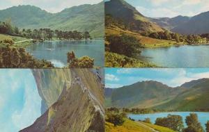 Buttermere & Honister Girls Swimming In Lake + Aerial 4x 1970s Postcard s
