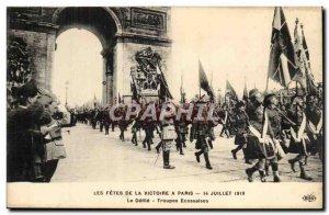 Paris Postcard Ancient Festivals of Victory in Paris July 14, 1919 The parade...