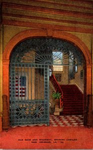 Louisiana New Orleans Spanish Cabildo Old Gate and Stairway
