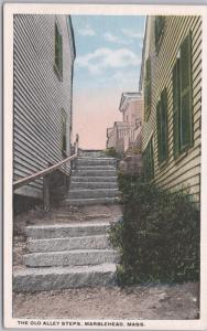 Marblehead, Mass., The Old Back Ally Steps -