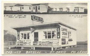 St David Quebec Barbeau Coca Cola, Pepsi, Sweet Corporal Cabins Postcard
