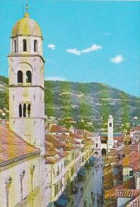 Croatia Dubrovnik Stradun Street Scene