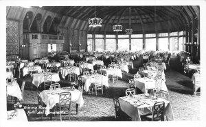 Dining Room Interior Hotel Del Coronado San Diego California Real Photo postcard