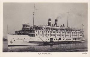 RP: Steamer S/S RICHELIEU , Quebec , Canada , PU-1949