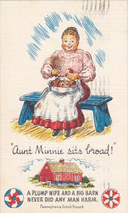 Aunt Minnie Sits Broad Pennsylvania Dutch Proverb 1951