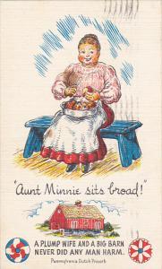 Aunt Minnie Sits Broad Pennsylvania Dutch Proverb 1951