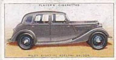 Player Vintage Cigarette Card Motor Cars 1st Series 1936 No 33 Riley Eight-90...
