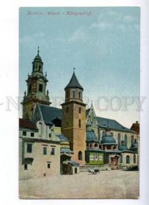 172137 POLAND KRAKOW Wawel Konigsschloss Vintage postcard