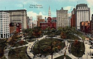 Union Square, New York City, N.Y., Early Postcard, Unused