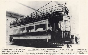 Bournemouth Bus Tram Tramways No 85 Real Photo Postcard