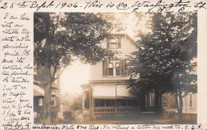 80 Washington St., East Orange, N.J.  Early real photo Postcard, Used in 1906