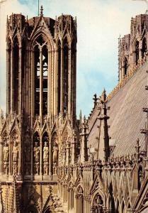 France Reims (Marne) La Cathedrale Notre Dame, Tour Sud et Galerie des Rois