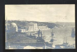 RPPC CONSTANTINOPLE TURKEY PALAIS IMPERIAL DOIMA BOSPHORE REAL PHOTO POSTCARD