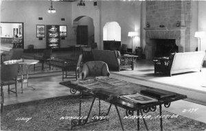 Cook Florida 1940s Wakulla Lodge RPPC Photo Postcard interior 6828