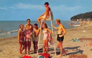 Angola New York Camp Pioneer Life Guard Seat Vintage Postcard K91683