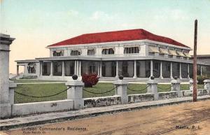 Manila Philippines Division Commander's Residence Vintage Postcard JE228253