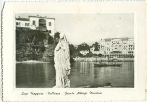 Italy, Lago Maggiore, Palanza, Grande Albergo Maestoso used real photo Postcard