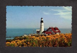 ME Portland Maine Head Light House Lighthouse Postcard Cape Elizabeth