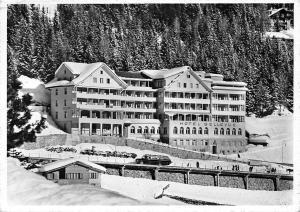Switzerland Hotel Bellevue Arosa Pension Winter Auto Car