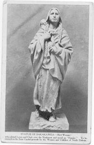 Statue of Sakakawea, State Capitol Grounds, Bismarck, North Dakota White Border