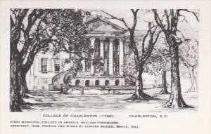 College Of Charleston by Elizabeth O'Neill Verner Charleston South Carolina A...