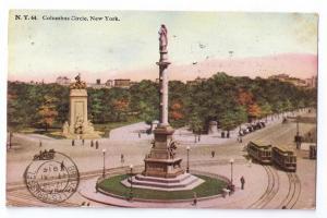 Columbus Circle New York NY Tammen ca 1919 Postcard