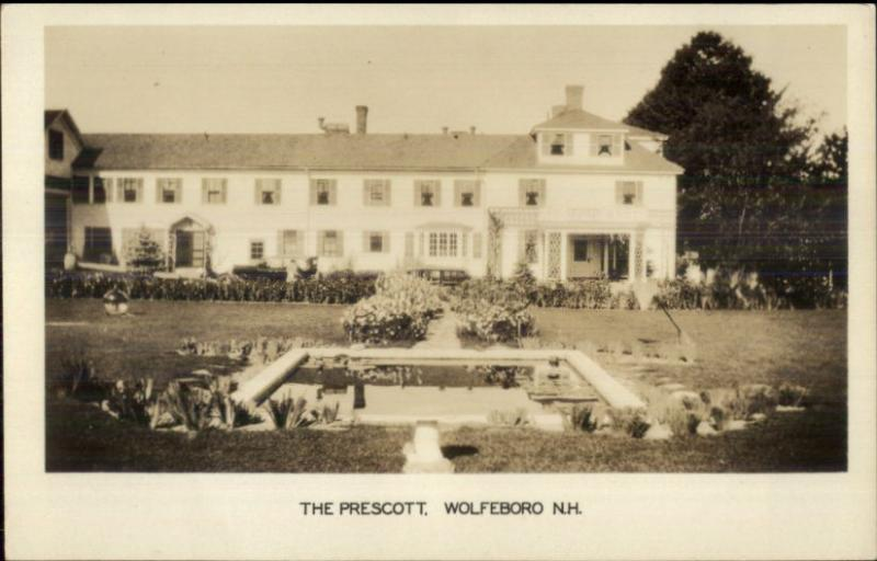 Wolfeboro NH The Prescott Real Photo Postcard