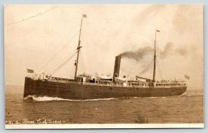 Los Angeles to Mexico~Henry On Board SS Rose City~1911 RPPC