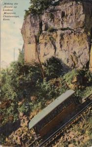 Tennessee Chattanooga Incline Railway Making The Ascent Lookout Mountain Curt...