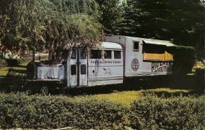 Dolores CO~Dilapidated Galloping Goose Train Engine Under Trees~City Park~1950s