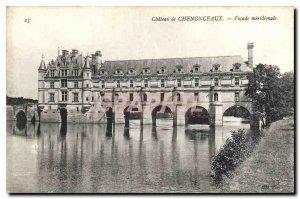 Old Postcard Chateau de Chenonceau Facade meridionale