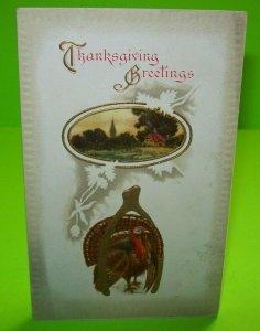 Thanksgiving Postcard Vintage Embossed Series 946 Gold Accents Unused AS Meeker
