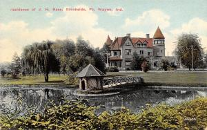 Fort Wayne Indiana~JH Bass Mansion~Brookside Farm~Clydesdale Horse Breeder~1908