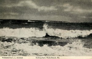 ME - Wells Beach. Rolling Surf