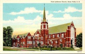 South Dakota Sioux Falls First Lutheran Church Curteich