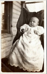 rppc Infant in gown  wondering what's going on 1904-18