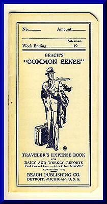 Vintage Beach's Common Sense Traveler's Expense Book, 1...