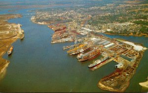 Mississippi Pascagoula Aerial View Showing Ingalls Shipyard