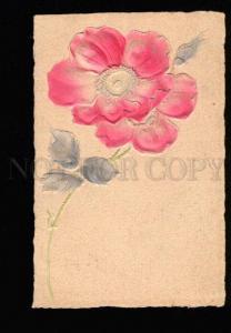 048944 Embossed Pink FLOWERS vintage