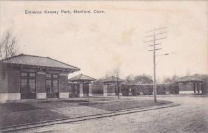 Connecticut Hartford Entrance Keeney Park 1908
