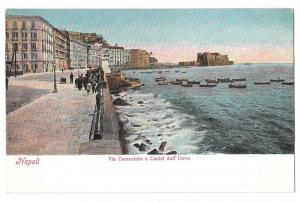 Italy Napoli Via Caracciolo Castel dell Uovo Naples Postcard