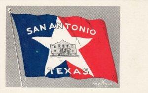SAN ANTONIO , Texas , 1930s ; The Flag of San Antonio
