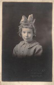 B41/ Newark Ohio Postcard Real Photo RPPC People c1910 Girl with Bow 13